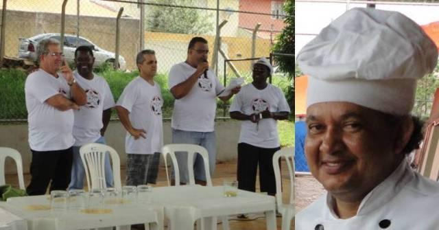 Ronan, Noel, Amarildo, Alvaro e Orizon, a equipe organizadora e, nosso irmão Gugu (Agostinho) que não está na foto da família por ter sido o responsável pela deliciosa culinária da festa.