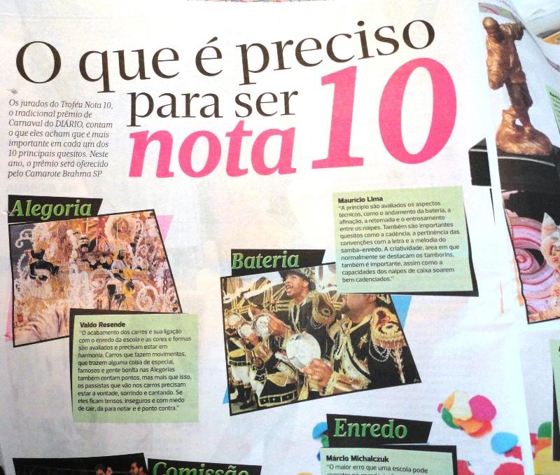 Diário de São Paulo, edição de 7 de fevereiro de 2013