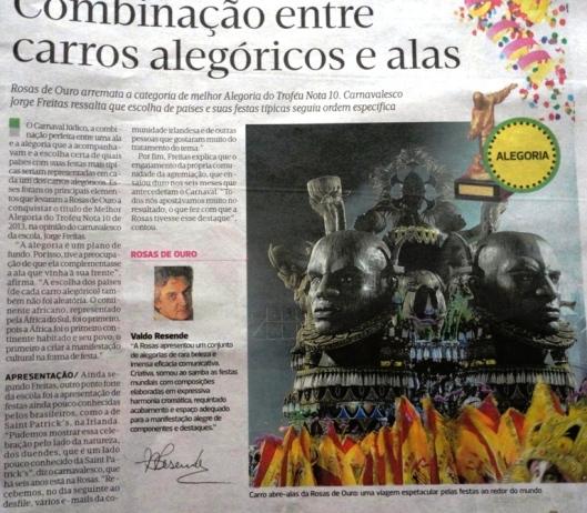 Detalhe do Diário de São Paulo