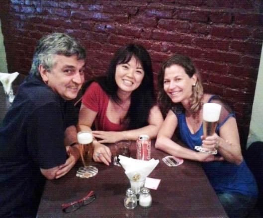 Com Lisa Yoko e Marta Marin