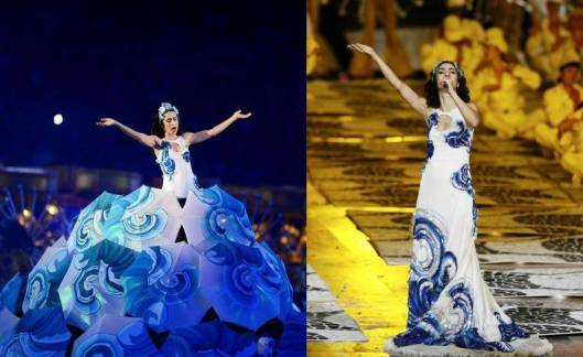 Marisa Monte em Londres. O vestido, de perto, é bem diferente...