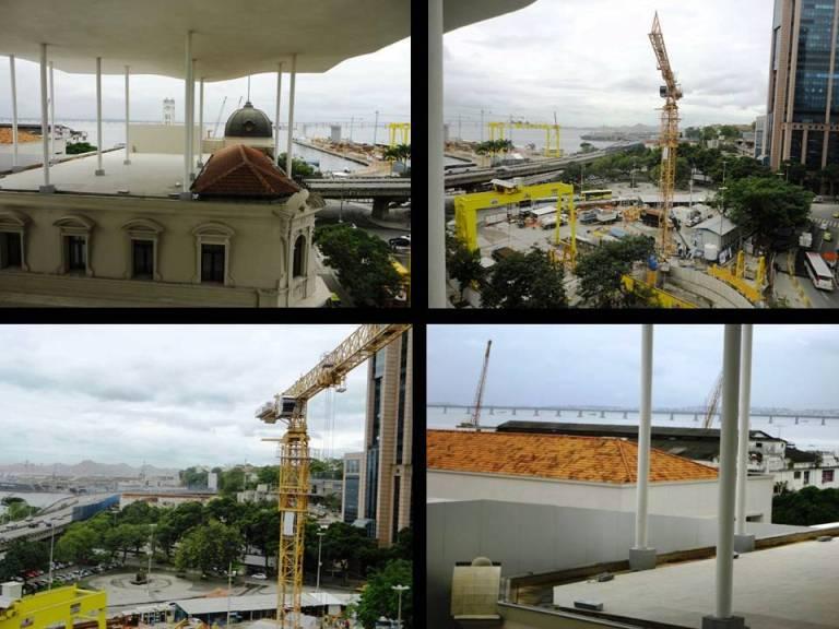 Parte do que se vê do terraço do Museu. A Escola do Olhar parte da realidade.