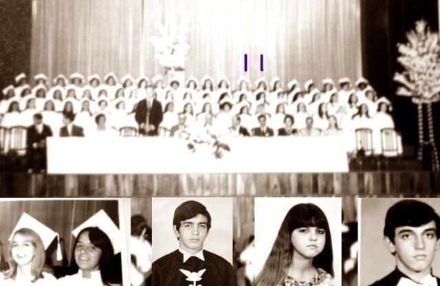 É possível distinguir a figura do professor Erwin, presidindo a cerimônia. Ele sabia que os Vinagreiros eram cinco: Waldênia, a Walcenis, o Valdonei, a Walderez e eu, Valdo.
