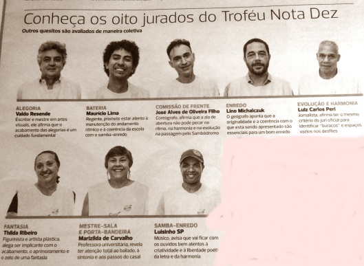 Juri do Troféu Nota 10 Diário de São Paulo
