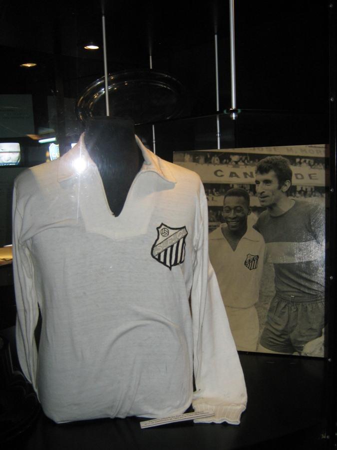 Camisa do Pelé no museu do Boca Juniors
