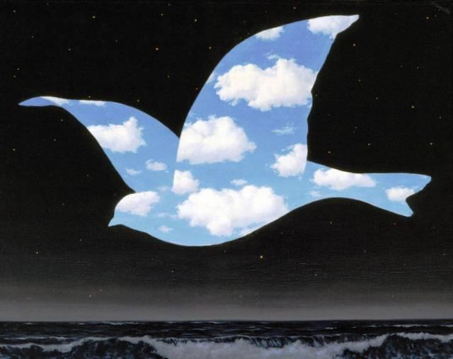 Rene MagritteThe Kiss-1951