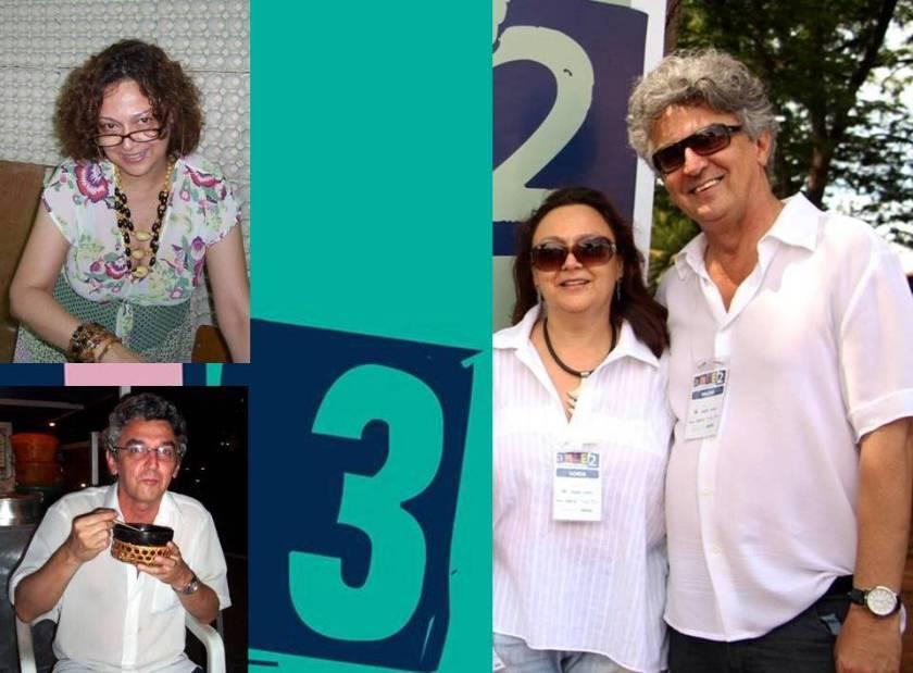 Fotos menores, Arte 1,  no Pará. Sonia Kavantan produzindo e eu, conhecendo o tacacá. Na foto maior, em Prata, em Minas Gerais, no Arte na Comunidade 2.