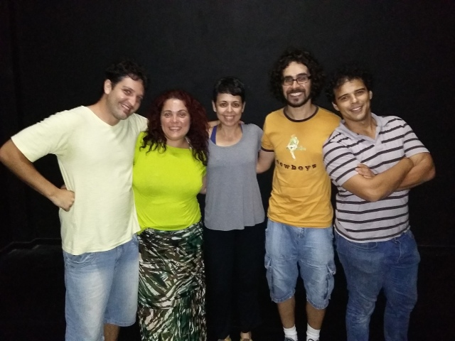 Ernani, Gigi, Fabíola, Bruno e Rogério.