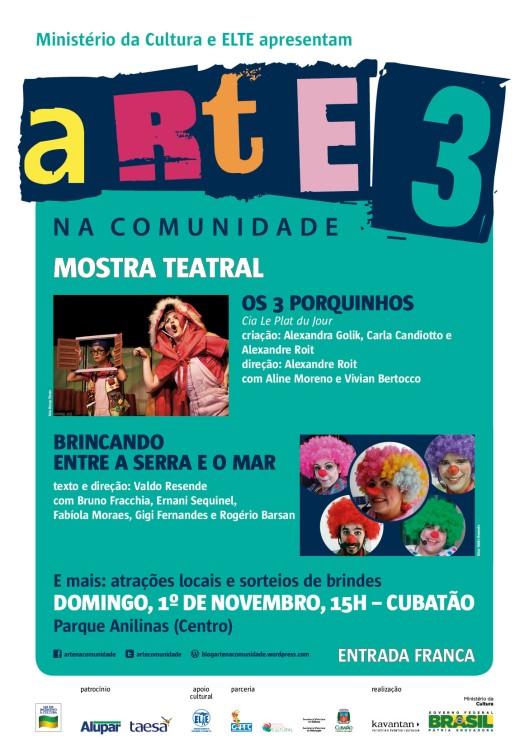 1 - arte na comunidade 3_mostra teatral_Cubatao