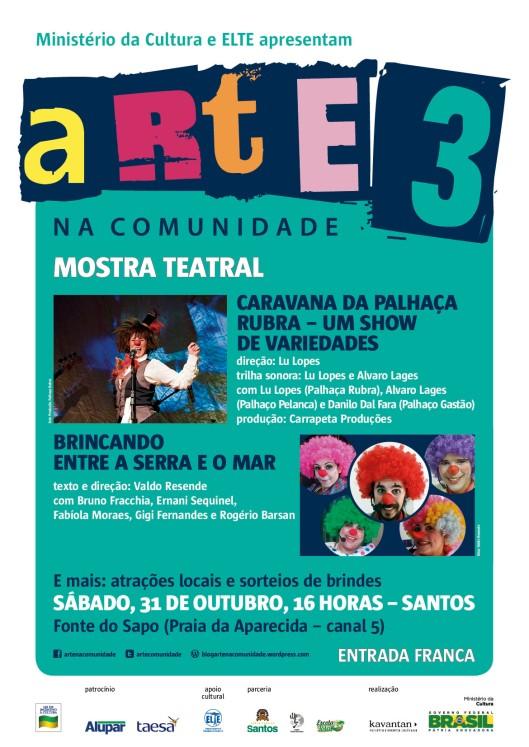 2 - arte na comunidade 3_mostra teatral_Santos