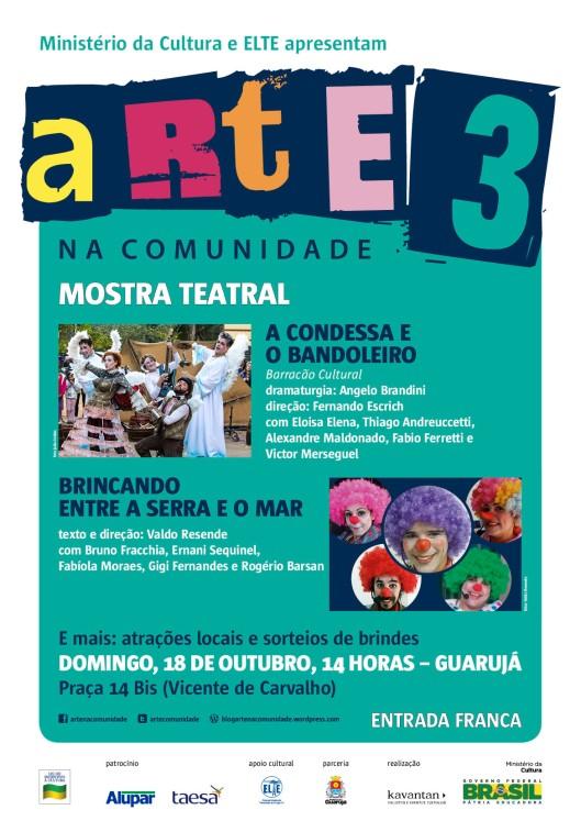arte na comunidade 3_mostra teatral_Guaruja